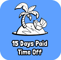 15 Days Paid Time Off