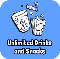 Unlimited Drinks and Snacks