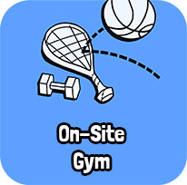 On-Site Gym with Racquetball, Basketball and more